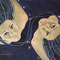Gemini From Zodiac Series by Dorina  Costras