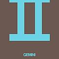 Gemini Zodiac Sign Blue by Naxart Studio