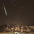 Geminid Meteor Shower Aspen by Tom Cuccio