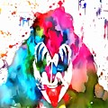 Gene Simmons Paint Splatter by Dan Sproul