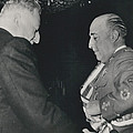 General Franco Decorated. Receives Garsnd Of The Omeyas - by Retro Images Archive