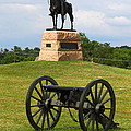 General Meade Monument And Cannon by James Brunker