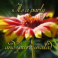 General Party Invitation - Blanket Flower Wildflower by Mother Nature