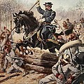 General Sheridan At The Battle Of Five by Henry Alexander Ogden