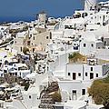 General View Of Oia, Santorini by Krzysztof Dydynski