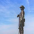 General Warren Statue At Gettysburg by Randy Steele