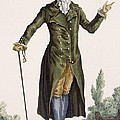 Gentleman In Green Coat, Plate by Pierre Thomas Le Clerc