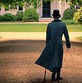 Gentleman Walking Towards A House by Jill Battaglia