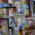 Geometric Modern Painting Original On Canvas by Gray  Artus