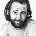 George Carlin Portrait by Olga Shvartsur