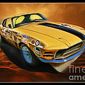 George Follmer 1970 Boss 302 Ford Mustang by Blake Richards