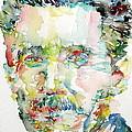 George Orwell Watercolor Portrait by Fabrizio Cassetta