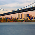 George Washington Bridge In Autumn by Susan Candelario