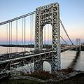 George Washington Bridge Sunset by Susan Candelario