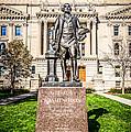 George Washington Statue Indianapolis Indiana Statehouse by Paul Velgos