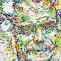 Georges Brassens Portrait by Fabrizio Cassetta