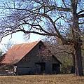 Georgia Barn In Winter by Gordon Elwell