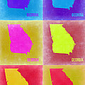 Georgia Pop Art Map 2 by Naxart Studio