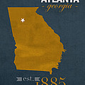 Georgia Tech University Yellow Jackets Atlanta College Town State Map Poster Series No 043 by Design Turnpike