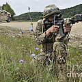 Georgian Army Sergeant Aims An M4 by Stocktrek Images