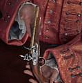 Georgian Man Offering A Flintlock Pistol by Lee Avison