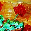 Geraniums   by Eric  Schiabor