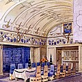 German Dining Hall, Early 20th Century by Gustave Halmhuber