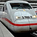 German Ice Intercity Bullet Train Munich Germany by Imran Ahmed