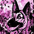 German Shepard In Purples by Halifax artist John Malone
