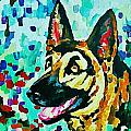 German Shepard Watercolor by Halifax artist John Malone