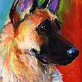 German Shepherd Dog Portrait by Svetlana Novikova