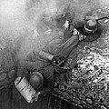 German Soldiers Launch A Suprise Attack On Bunker 17. by Underwood Archives