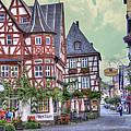German Village Along Rhine River by Juli Scalzi