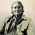 Geronimo As Photographed By A. Rinehart Omaha Nebrasks  1898-2013.  by David Lee Guss