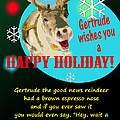 Gertrude The Good News Reindeer by Alpha Pup
