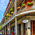 Getting Around The French Quarter - Watercolor by Steve Harrington