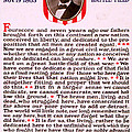 Gettysburg Address By Abraham Lincoln  by M T Sheahan