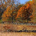 Gettysburg At Rest - Autumn Looking Towards The J. Weikert Farm by Michael Mazaika