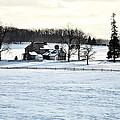 Gettysburg Farm In The Snow by Bill Cannon