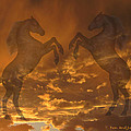 Ghost Horses At Sunset by Donald and Judi Hall
