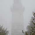 Ghostly Cana Island Lighthouse by Deb Schense