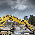Giant Bulldozers In Action by Christian Lagereek