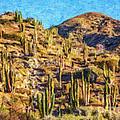 Giant Cordon Cactus by Liz Leyden