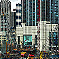 Downtown Chicago High Rise Construction Site by Ginger Wakem