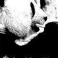Giant Panda With Script #3 by Nola Lee Kelsey