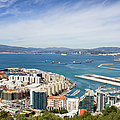 Gibraltar City And Bay by Artur Bogacki