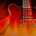 Gibson Es-335 On Fire by John Cardamone