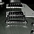 Black And White Les Paul by Lisa  Telquist