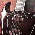 Gibson Sg Standard Red Grunge by John Cardamone