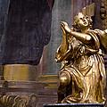 Gilded Angel Of Iglesia De San Ildefonso by Lorraine Devon Wilke